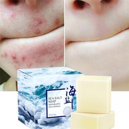 Wholesale 100g Sea Salt Handmade Natural Goat Milk Soap Face Treatment Wash Soap Goat Milk Sea Salt Soap Bath Shower