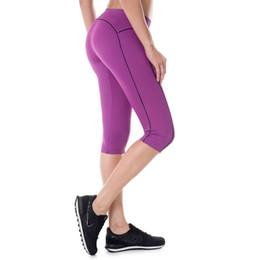 Workout Capri Leggings Australia - Women's Knee Tight Fit Yoga Running Workout Sports Capri Leggings Pants #20045