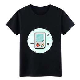 Discount console free handheld games - Men's game boy gaming gamer handheld console t shirt printed 100% cotton plus size 3xl Novelty Famous Building summ