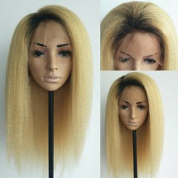 yaki human hair lace front wigs Australia - Yaki Straight Full Lace Human Hair Wigs For Black Women Brazilian Virgin Hair Pre Plucked Lace Front Wigs With Baby Hair