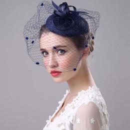 Halloween Wedding Hair Clips Australia - HT1775 Ladies Royal Fascinators Wedding Women Elegant Linen Mesh Hair Clip Hat Female Solid Party Hats Ladies Vintage Fedoras D19011102