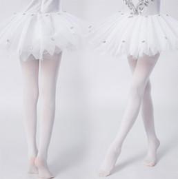 Culottes Leggings Australia - Girl's cotton slim tights, culottes Girls leggings children's swan dance socks dancing girls bottoming pantyhose white color size 80-160cm