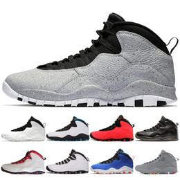 the best attitude 5e145 050cc Nuevo diseñador de zapatos de baloncesto Hot Cement Tinker 10s 10 bwhite  Westbrook Estoy de vuelta Blanco Negro Cool Gris Acero Gris Hombre Deportes  ...