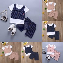 T Shirts Material Wholesale Australia - Summer New Baby Boy Clothes Cotton Material Boys Clothing Set Toddler Short Sleeved T-Shirts+Shorts Sport Suit Set