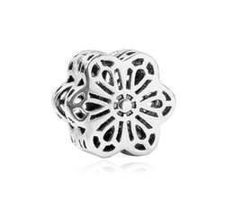 $enCountryForm.capitalKeyWord UK - Fits Pandora Bracelets Flower Spacer Buckle Fixed Clip Lock Crystal Charm Bead Stopper Beads For Wholesale Diy European Sterling Necklace