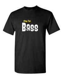 $enCountryForm.capitalKeyWord NZ - Fear The Bass   Bass Player T Shirt - Bassist Guitar Musicians tee Top Tee 100% Cotton Humor Men Crewneck Tee Shirts Black Style