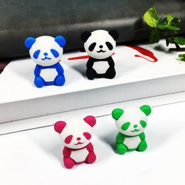 girls erasers Australia - Cute Animal 3D Panda Rubber Eraser Kawaii Creative Stationery School Supplies Girl Gift For Kids Children's Toys J190731