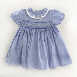 $enCountryForm.capitalKeyWord UK - Baby Girls Smoking Flower Dress Kids Toddler's Sleeveless Clothes Children Printed Princess Dresses Lovely Small Girls Clothes 2019 Summer