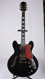 hollow guitar black Australia - Custom factory wholesale   retail best price, jazz electric guitar semi-hollow black, offer customization!