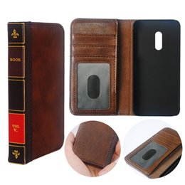 vintage leather book covers UK - Flip Leather cell Phone Case for OPPO Realme X1 Cover Wallet Retro Bible Vintage Book Business Pouch