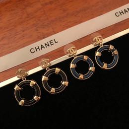 52e3cd4dde32 Nueva llegada Marca de fábrica forma redonda pendiente de gota Joyas de  estilo de moda para mujeres Pendientes de boda regalos en oro de 18 k  bañado en 4 ...