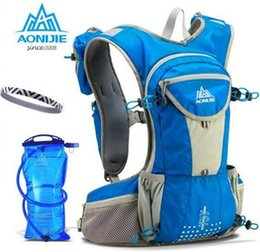 Hydration Backpack Running Australia - AONIJIE 12L Marathon Running Backpack Cross-country Backpack Outdoor Sport Hydration Water Pack 2L Water Bag For Optional #123408