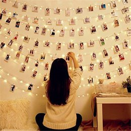 battery xmas garlands NZ - 3 5 10m Photo Clip Holder Led String Lights Battery Power Home Decoration For Party Xmas Wedding Fairy Lights Christmas Garland