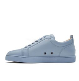 Ocean Blue Shoes For Women Australia - 2019 Designer Sneakers Lowtop Flats Shoes For Men and Women Sky-blue Leather Sneaker Party Designer Casual Shoes