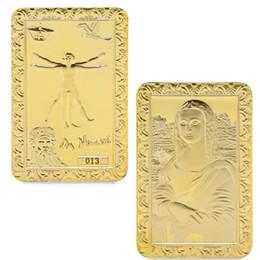 $enCountryForm.capitalKeyWord Australia - Da Vinci Mona Lisa Gold Plated Commemorative Coins Collection Souvenir Art Gold plated Bar DHL ship