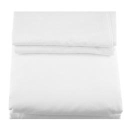 Cover Set Sheet UK - 100% Cotton Fitted Sheet Duvet Cover Pillow Case Pure White Bedding Set