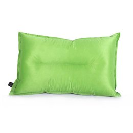 travel air pillows NZ - Portable Fold Outdoor Air Inflatable Pillow Camping Hiking reak Rest Sleep Travel