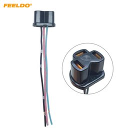 $enCountryForm.capitalKeyWord UK - wholesale Auto H4 Halogen Fog Xenon LED Light Plug Adapter Car Wiring Harness Extension H4 Light Sockect Connector #5956