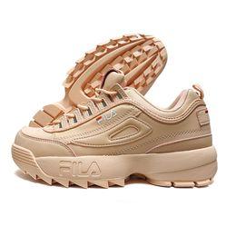 Shoes Repair Australia - women's Running Shoes sneaker Thicker legs repair leggings jogging light breathable sports shoes FILA Disruptor II 2 shoes