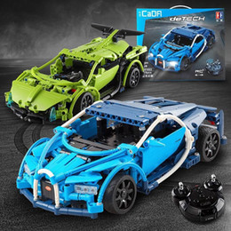 unassembled rc kits 2019 - SY RC Car Building Blocks, Sports-Car with Shock Absorber, Doors, Hood Can Be Opened, DIY Developmental Toy, for Kid Bir