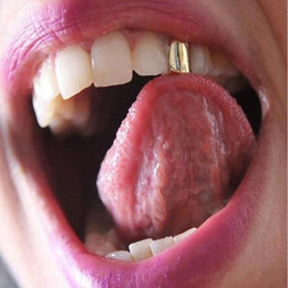 $enCountryForm.capitalKeyWord NZ - Hot style Double smooth Single Metal Tooth Grillz Gold silver Color Dental Grillz Hiphop Teeth Caps Women Men Fashion Vampire