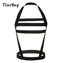 $enCountryForm.capitalKeyWord Australia - 2018 TiaoBug New Men Nylon Sexy Body Chest Harness Wide Straps Men Bondage Lingerie Hollow Out Halter Neck Bondage Belt Crop Top