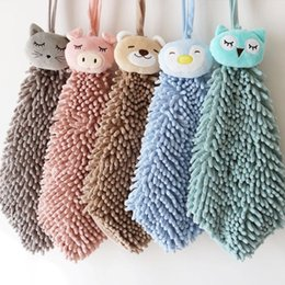 $enCountryForm.capitalKeyWord Australia - Cartoon Animal Hand Towel Strong Water Absorption Cartoon Handkerchief Chenille Microfiber Wash Towel Home Kitchen Bathroom Tools