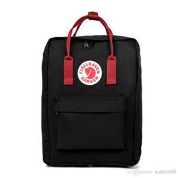Venta al por mayor de Swedish Fox Student Mochila impermeable para hombres y mujeres Estilo de diseño de moda Bolso Junior High School Canvas Backpack Marca de deportes Bolso