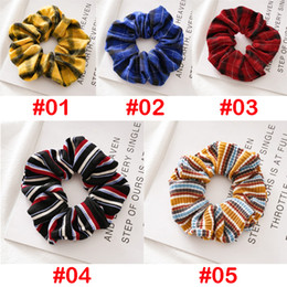 christmas headbands patterns NZ - 5 color Retro Vintage Designs Cotton headband Scrunchies Striped Plaid Pattern Korea Fashion hair band Girls hair accessories BJJ217
