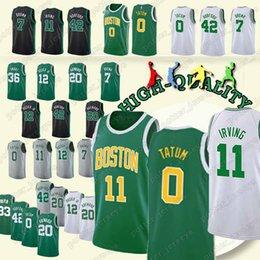 e89dac60e Cheap sales Boston 11 Kyrie Jayson Irving Celtic Jerseys 0 Tatum 33 Larry  Jaylen Bird 7 Brown Jersey 2019 new High-quality