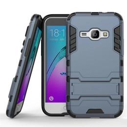 $enCountryForm.capitalKeyWord Australia - For Samsung Galaxy J1 2016 Case 4.5inch Slim Shockproof Robot Armor Hybrid Silicone Hard Phone Cover for J1 2016 J120 J120F