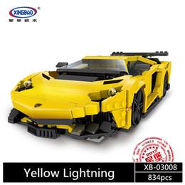 Blocks Moc Canada - XingBao 03008 924Pcs Building Blocks Bricks Creative MOC Technic Series The Yellow Flash Racing Car Set Educational model Toy