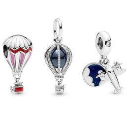 China 2019 new Summer Air Balloon Charm loose beads 925 sterling silver jewelry Fits for Pandora Bracelet charms Romantic and lovely wholesale suppliers