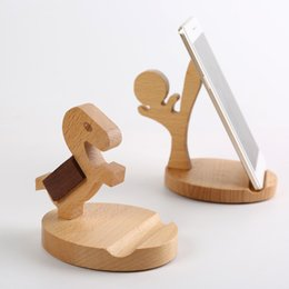 wooden cell phone holders Australia - Wooden Style Cell Phone Holder Universal Portable Unique Cell Phone Holder Durable Eco-friendly Wood Cellphone Stand Bracket BH2451 TQQ