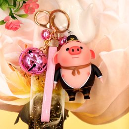 Flashlight Brown Australia - Creative cute pig ba jing Monkey King car key buckle male and female bag pendant small gift girl birthday present