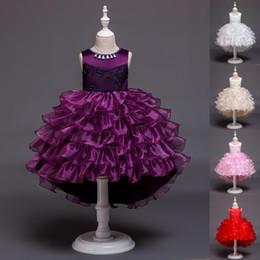 $enCountryForm.capitalKeyWord Australia - High Low Flower Girl Dress Layered Trailing Tutu Formal Birthday Party Ball Gown Kids Children Clothes