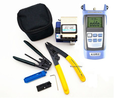 Optical Fiber Power Australia - 4 in 1 FTTH Fiber Tool Kits CFS-3 FC-6S FTTH Cable Stripper Optical Power Meter