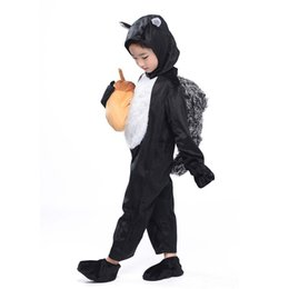 squirrel fancy dress 2019 - Kids Kitten Costume Black Squirrel Cosplay Animal Onesies Fancy Dress Kitten with Acorn Plush Toy Carnival Halloween Cos