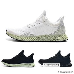wide athletic shoes Australia - New Futurecraft 4D Men Black White Athletic Shoes Fashion Designer Alphaedge Ash Grey Onix Aero Running Sports Sneakers Trainer Shoes 40-45