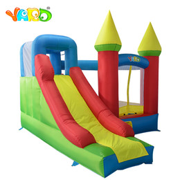 kids inflatable bounce house NZ - YARD Oxford Cloth Puncture Resistant Free Shipping Kids Jump House Residential Bounce House With Air Blowers