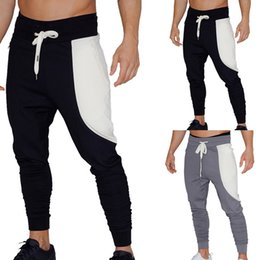 $enCountryForm.capitalKeyWord Australia - LOOZYKIT 2019 Fashion Cotton Knit Jogger Color Blocking Sweatpants Casual Loose Workout Pants Gym Running Pants Fitness S-2XL