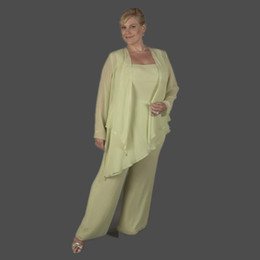 $enCountryForm.capitalKeyWord Australia - 2019 Mint Green Three Piece Mother of Groom Dresses Long Sleeve Chiffon Plus Size Mother of the Bridal Pant Suits