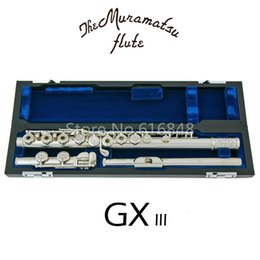 Muramatsu GX-III High Quality C Tune 16 Keys Holes Open Flute Silver Plated New Musical Instrument E Key Flute with Case Free Shipping on Sale