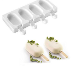 Ice lolly moulds online shopping - New Design Cell Silicone Frozen Ice Cream Pop Popsicle Mold Ice Maker Lolly Mould Tray Pan Kitchen Wooden Sticks