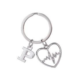$enCountryForm.capitalKeyWord UK - lemegeton Fishhook Wholesale Retail Fashion New Design Silver Color Heartbeat Heart Charm Custom Metal Silver Key Chain