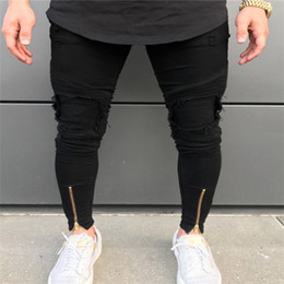 Diseno De Jeans Negro Para Hombre Oferta Online Dhgate Com
