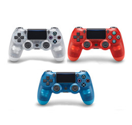 China Transparent Wireless Ps 4 Gamepad Bluetooth Controller For PS 4 Dual Vibration Joystick Gamepad Game Controllers JoyStick Camouflage cheap ps2 wireless controller freeshipping suppliers