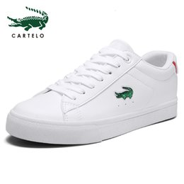 korean canvas shoes for men Canada - CARTELO women's shoes casual white shoes for men and women simple tie Korean version of the thick-bottom sports students low to SH190928