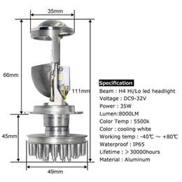 Lamp H4 Australia - 2x 70W H4 LHD LED Bulbs Lossless LED Conversion Kit Bulb Light Lamp Hi Lo Beam Headlight with Mini Projector Lens 12V 24V
