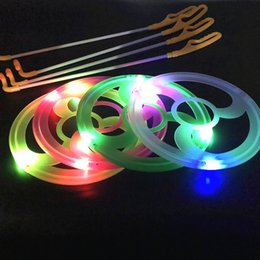 $enCountryForm.capitalKeyWord Australia - Manufacturers direct sales of new light-emitting wind turbine LED flash hand-push plastic iron ring children's small toys stall